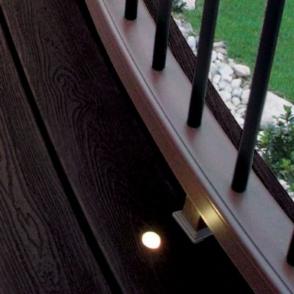 Утопленный элемент подсветки террасы